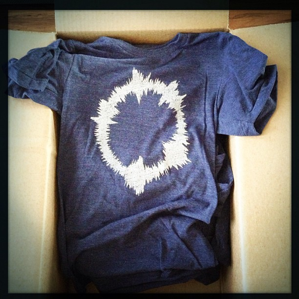 photo by erica_hampton via instagram  #52Hertz t-shirts just arrived. They look amazing @vgkids !! cc @mikeambs  Yes! The 52hz t-shirts turned out beautifully! Can't wait to get them packed up and mailed out to all the awesome / recent Kickstarter backers.