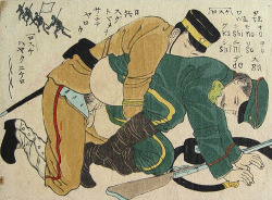 Homoerotic shunga from the early 20th century (artist unknown)