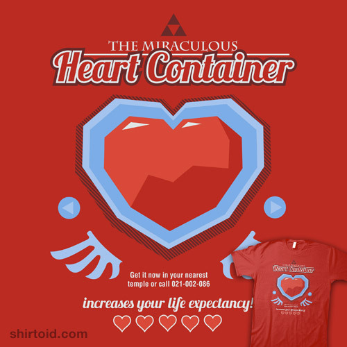 This great T-shirt design, 'The Miraculous Heart Container' by Azafran, is available to buy now over at RedBubble!