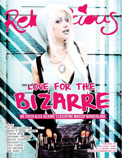 Got the cover of Rebelicious Magazine Issue #11 !!! Photographer: Toria Brightside Photography MUA/Model: Alice Bizarre Make Up