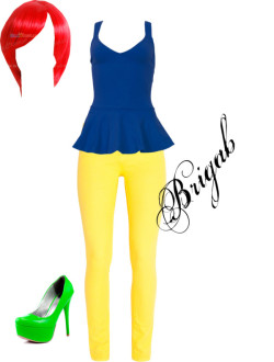 google por brigab con skinny leg jeansMotel peplum top, $42 / 7 For All Mankind skinny leg jeans / Veda Soul high heel / Red 003 short Wig [red003] - $29.99 : Hello Cosplay : Cosplay Costumes…