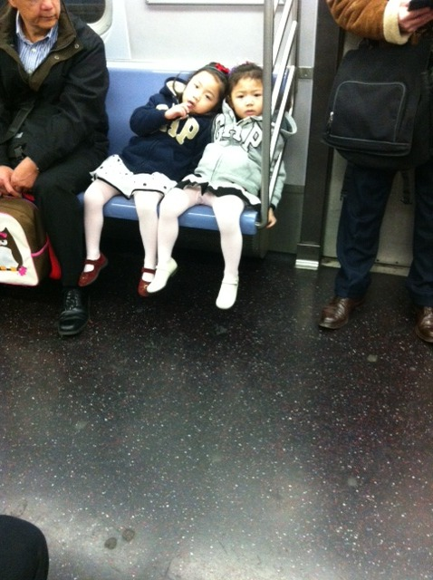 Cuties on the train this morning. Got my creepin in for the day.