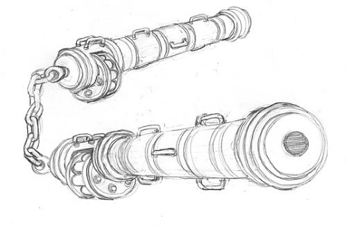 cannon nunchucks nunchaku weapons design new character afu chan