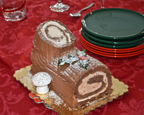 Festive Holiday Yule Log