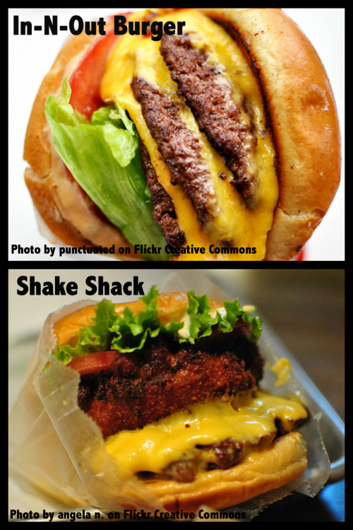 May is National Hamburger Month! What's your favorite burger joint? Would you rather have a burger from In-N-Out OR from Shake Shack? Let us know!