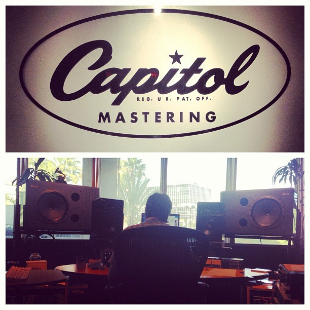 Mastering new EP today! Thanks Evren & @capmastering