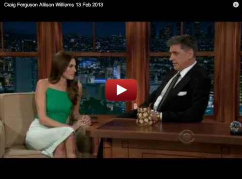 Allison Williams spends 6 hours a day naked on top of a guy and he's not even her boyfriend…