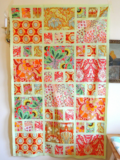 Boho Girl quilt top by katedeerie on Flickr.