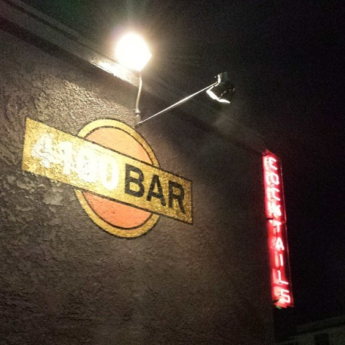 Home base. (at 4100 Bar)