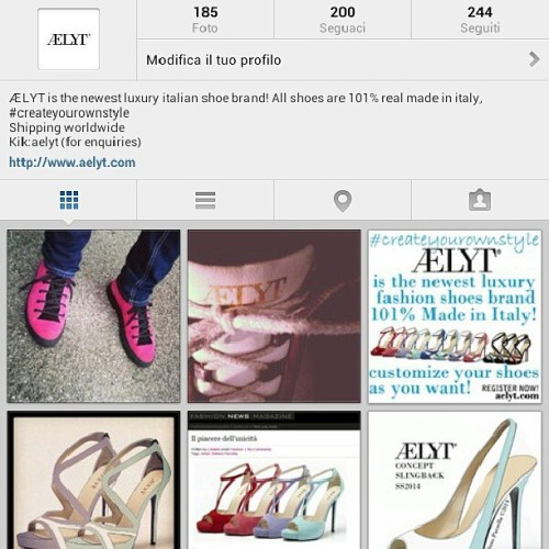 #200 #followers ! #thankyou #createyourownstyle with #aelyt #luxury #fashion #shoes #brand #madeinitaly #bespoke #shopping #sneakers #pumps #peeptoes #slingback #sandals #platform #heels #moda #scarpe #sandali #style #girl #mens #instafashion #shoesoftheday #instagram #swag #top