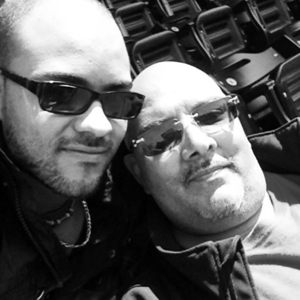 #instamet watching the game with my dad at Citifield @instamet