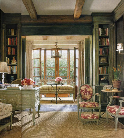 a stunning french reading nook