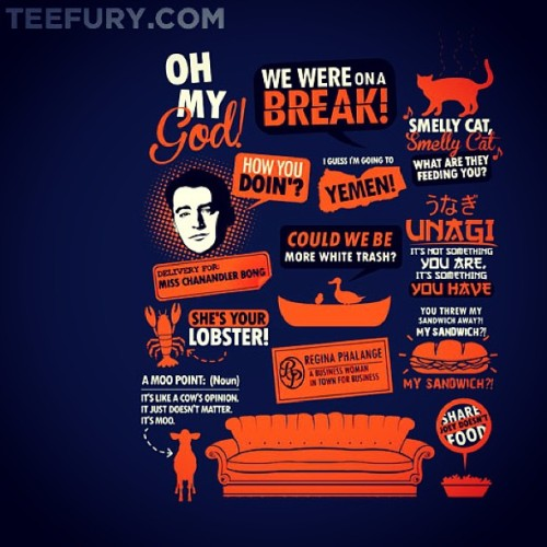 #tshirt of the day… Quotable #Friends. #teefury @teefury #quote #quoth #funny #lol