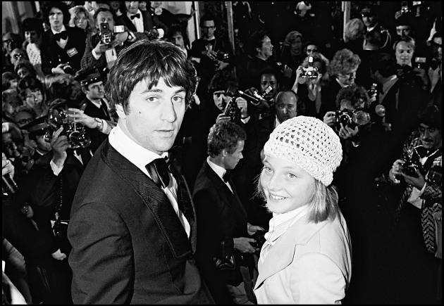 Robert DeNiro and Jodie Foster at the 1976 Cannes Film Festival for Taxi Driver
