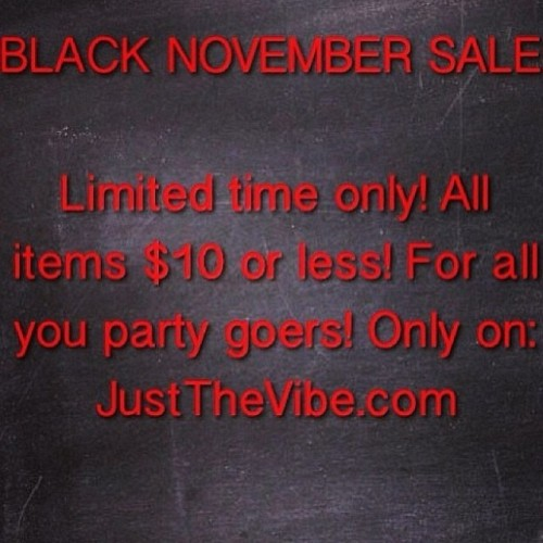 CLEARANCE ON ALL PARTY GEAR!!!!! JustTheVibe.com