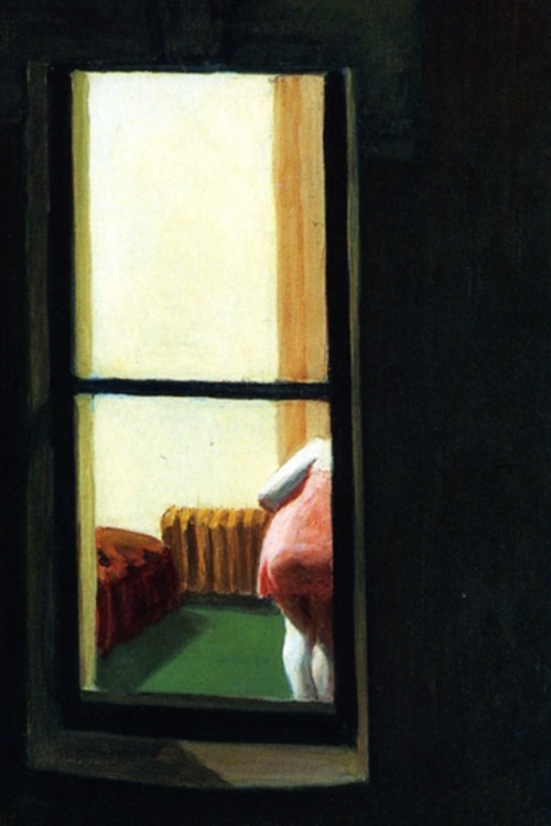"tierradentro:  Detail from Edward Hopper's ""Night Windows"", 1928."