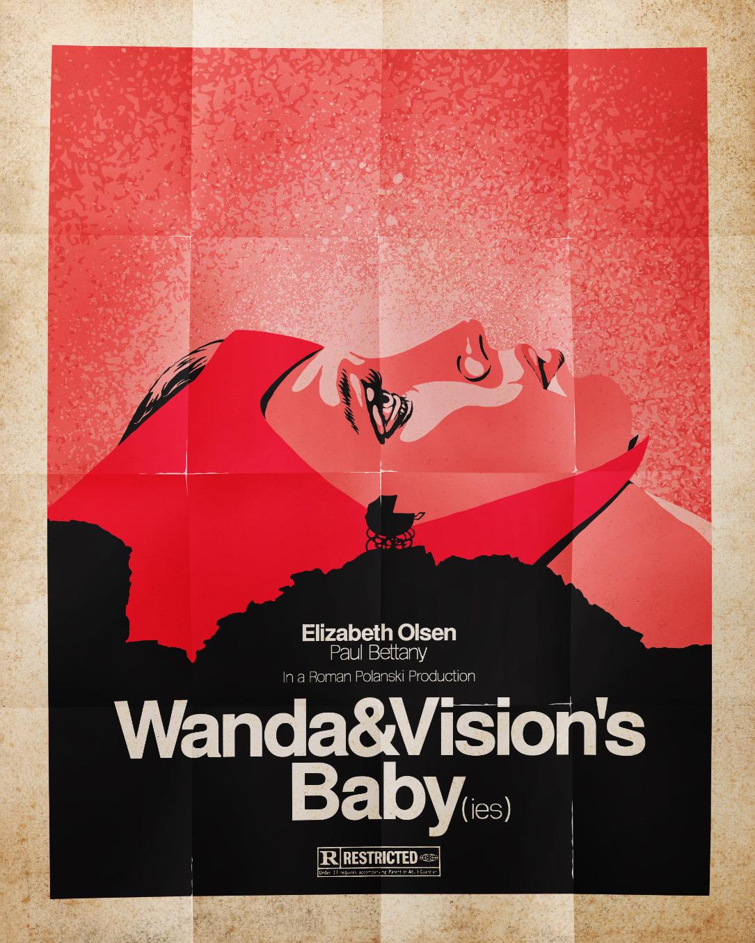 Wandavision Poster Retro Feito Por Fã Faz Referencia A O Bebê De Rosemary Geeks In Action Sua Fonte De Recomendações E Entretenimento