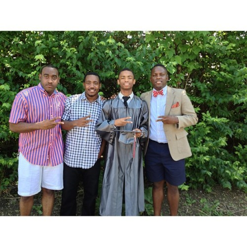 Four brothers. One graduate.