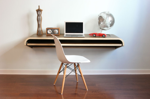 takeovertime:  (via Orange22 Design Lab Shop - Modern Innovations, Furniture and Home Decor — Minimal Float Wall Desk - Walnut)
