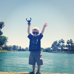 This kid. ❤ (at Lake Hylia)