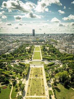 thevuas:  Champ de Mars, view from the Eiffel Tower  //  by  Andrei Valentin