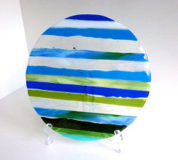 Fused Glass Art Plate by bprdesigns