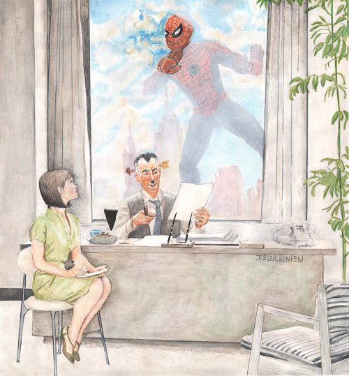 thehappysorceress:  Parker is late again by Jesse Rubenfeld