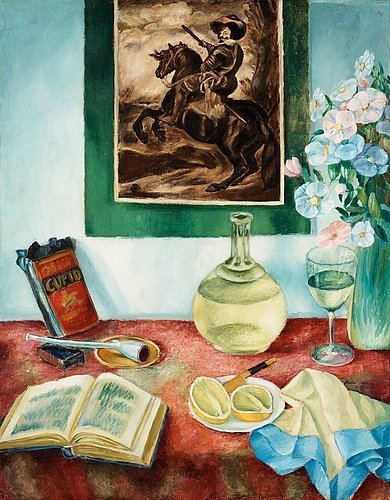 Hadar Jönzén Still Life with Pipe and Decanter 1912