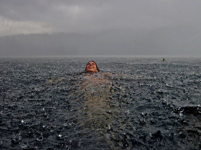 unvalids:  there is nothing quite like swimming while it rains.