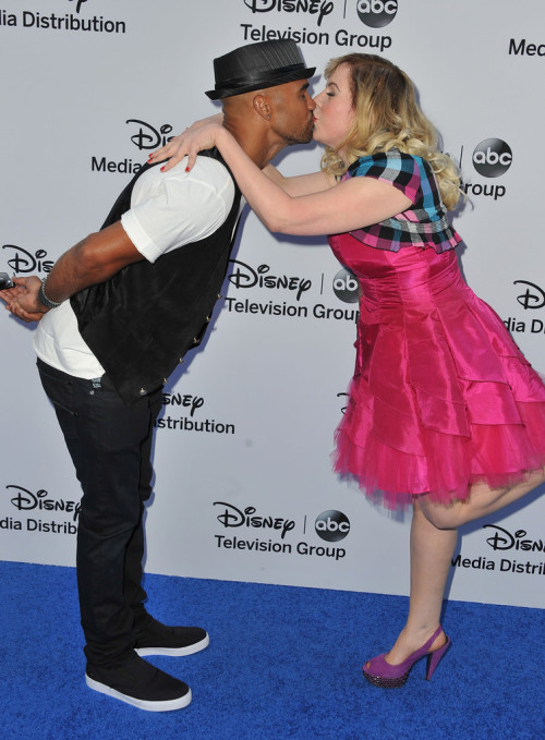 Morgan and Garcia!No. I can't. Get out with this adorableness!Shemar Moore and Kirsten Vangsness || Disney Upfronts at Walt Disney Studios in Burbank, CA on May 19, 2013