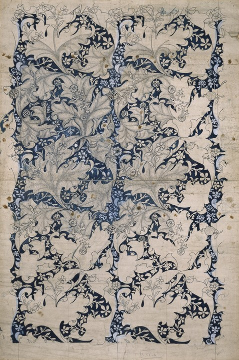 artmastered:  William Morris, Wallflower pattern (wallpaper design), 1890
