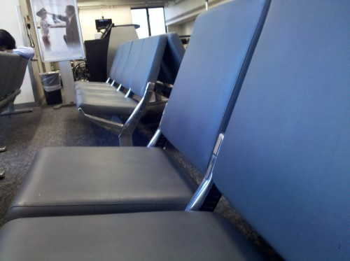 If you travel a lot, then you know how rare these kind of seats are. No arm rests, new cushions, AND clean? Almost makes me want to enjoy this 3hr delay at Philly Intl…