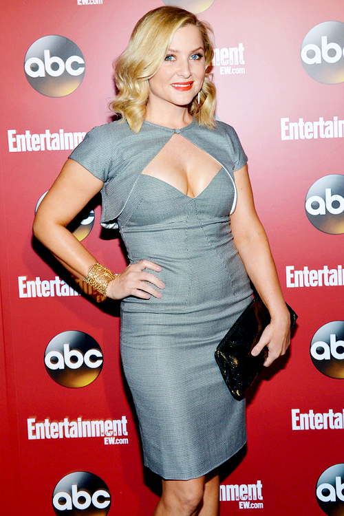 Jessica Capshaw attends the Entertainment Weekly & ABC-TV Upfronts Party at The General on May 14, 2013 in New York City.
