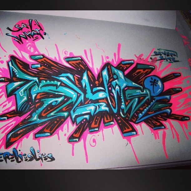 Hot dam this ones my favorite 👶👦👧👨👩👴👵👼🔫#killemall #graff #makers #paint #spr