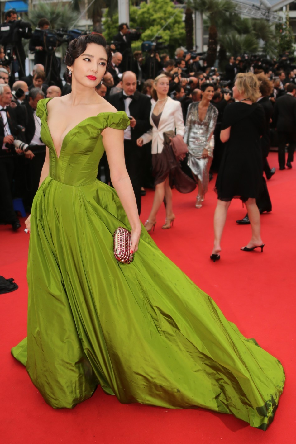 Zhang Yuki in Ulyana Sergeenko at The Cannes Film Festival for The Great Gatsby Premiere