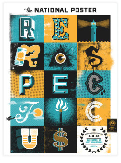 weandthecolor:  Typographic Poster Design. A great new typographic poster illustration by Two Arms Inc. for the National Poster Retrospecticus 2013, a traveling show that features more than 300 hand-printed event posters from over 75 amazing poster designers and graphic artists. via WE AND THE COLORWATC//Facebook//Twitter//Google+//Pinterest