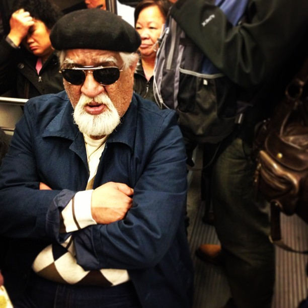 His future's so bright on the M. #muni #passengers #transit #sunglasses #commute