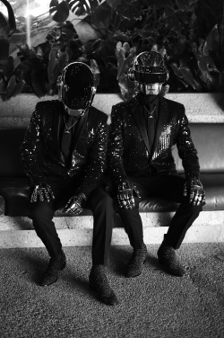crfashionbook:  PUNK'D Before unveiling a new album Random Access Memories, their first in eight years, on May 21, Daft Punk sits down for an interview with Sky Ferreira Read More