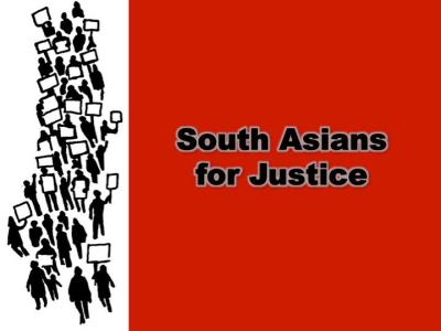 South Asians for Justice logo circa 2011.