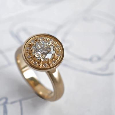 custom 18k and diamond ring by J ALBRECHT DESIGNS