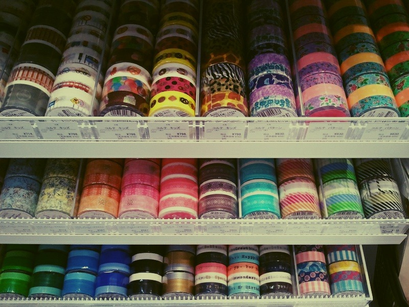 Rows of Washi tape. {from the Tokyo archives}