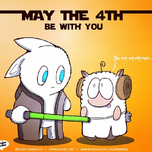 Happy May the 4th! #starwars #doodle #doodleart #sketch #illustration #draw #drawing #comics #bunny #sheep