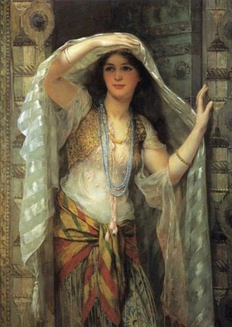William Clarke Wontner : Safie , One of the Three Ladies of Bagdad 1900