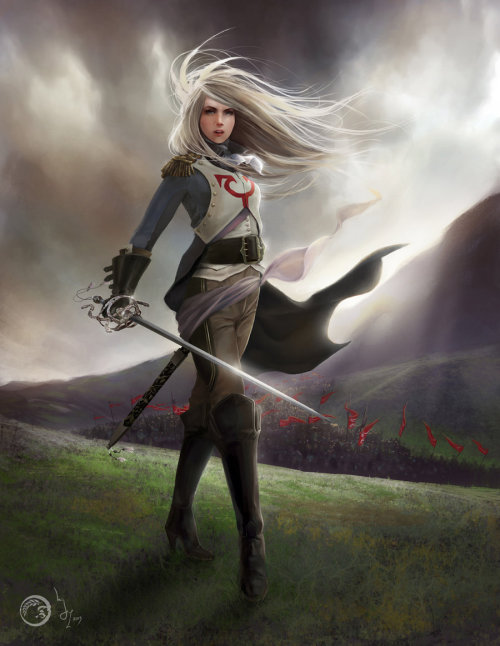 theartofmtg:  Thalia by ~merkymerx Absolutely stunning!