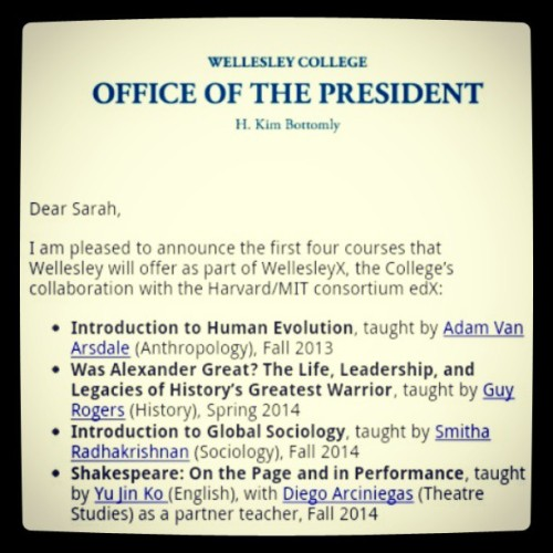 OMG I AM SO EXCITED FOR THIS! #wellesley #onceawendyalwaysawendy