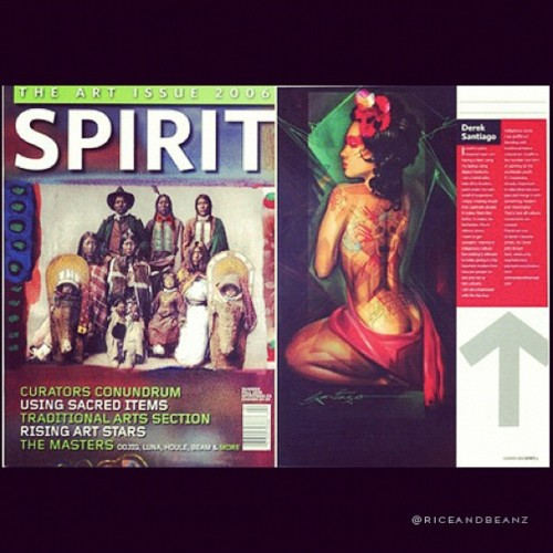 Throwback Thursday #TBT 2006 issue of Spirit Magazine from Canada. #Native #Indigenous #culture #Riceandbeanz