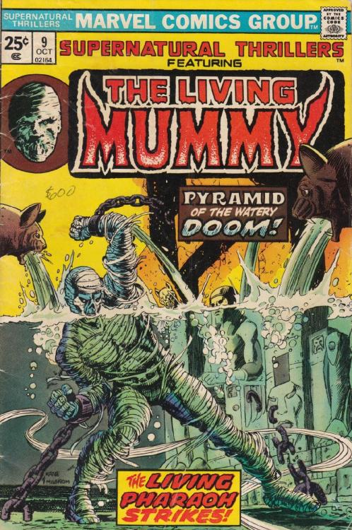 bigredrobot:  Supernatural Thillers Featuring The Living MummyOctober 1974Cover by Gil Kane & Al Milgrom