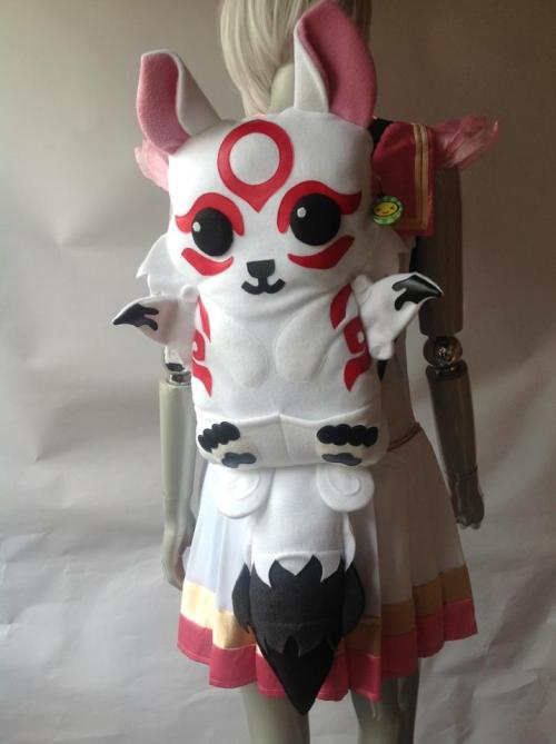 Check out this adorable custom backpack we finished making today! Okami~Amaterasu!