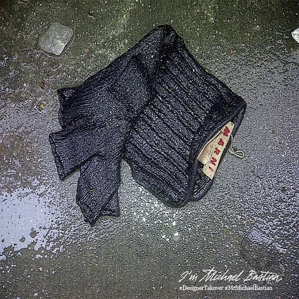 'Somewhere another Marni fingerless glove waits patiently…'-xMB  #DesignerTakeover #MrMichaelBastian #nyfw #attheshows