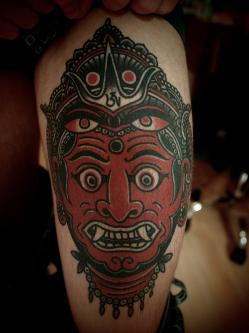 guyletatooer:  Healed Tattoo . Done on Randy in Lausanne .